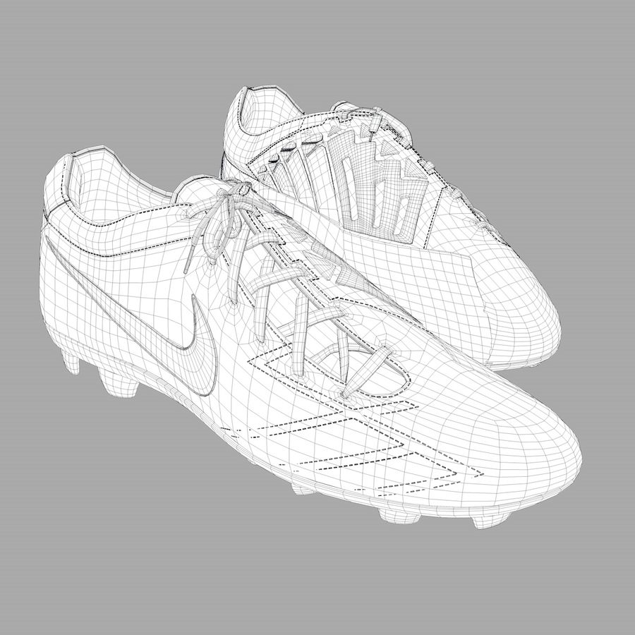 Nike T90 royalty-free 3d model - Preview no. 5