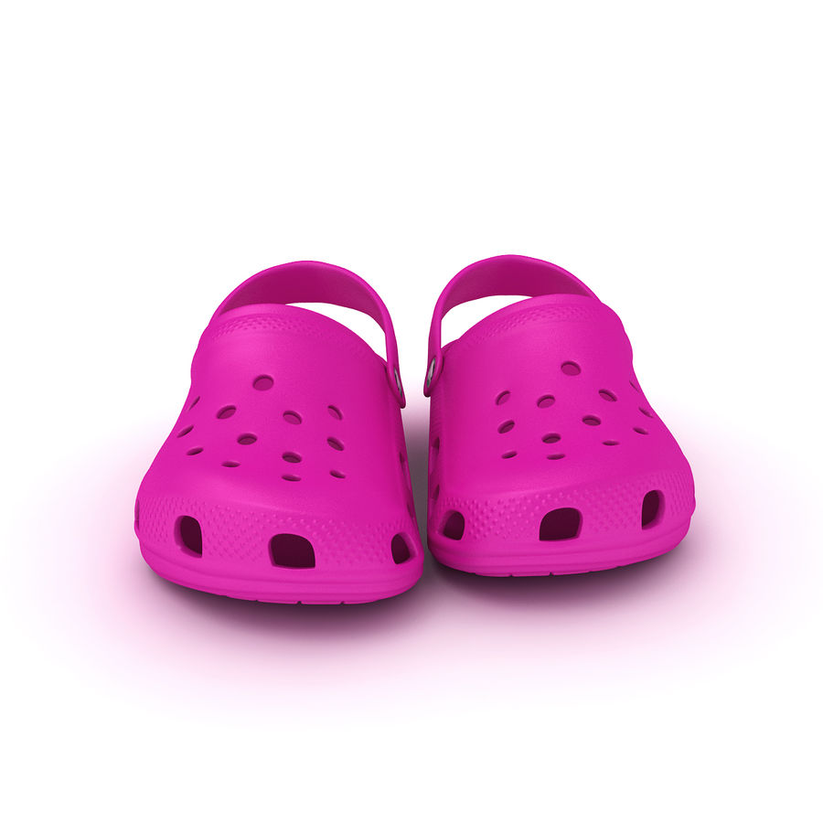 Crocs Shoes, Sandals, & Clogs in Pink color royalty-free 3d model - Preview no. 4