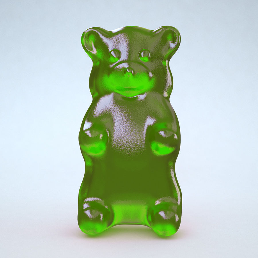 Red Gummy Bear royalty-free 3d model - Preview no. 6