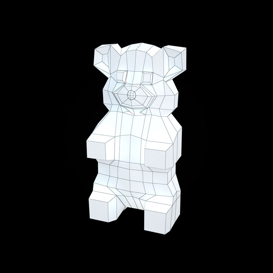 Red Gummy Bear royalty-free 3d model - Preview no. 10