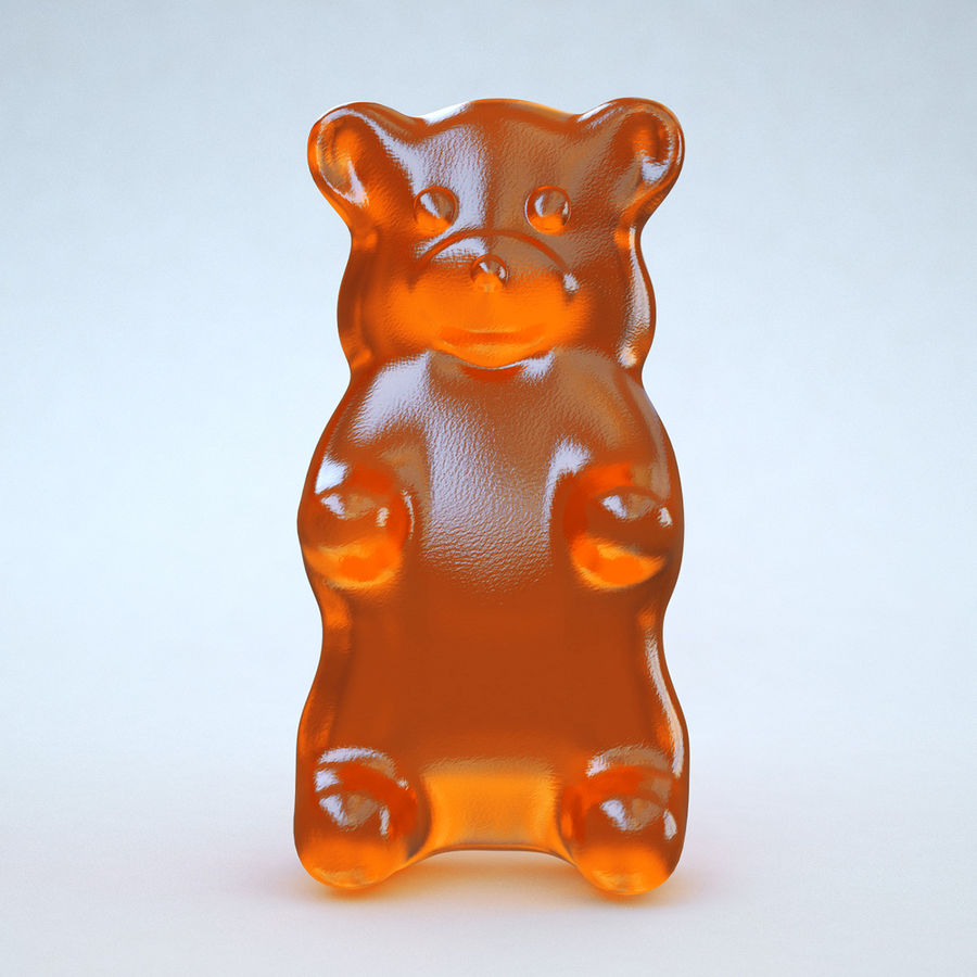 Red Gummy Bear royalty-free 3d model - Preview no. 9