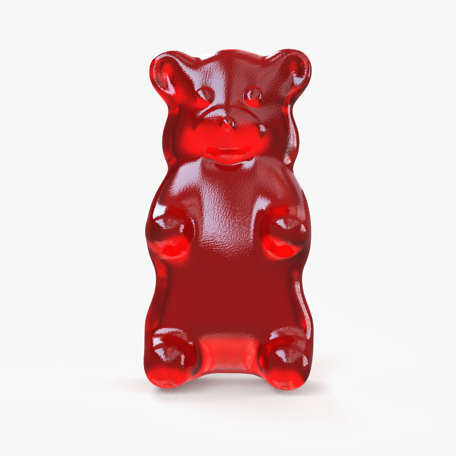 Red Gummy Bear royalty-free 3d model - Preview no. 1