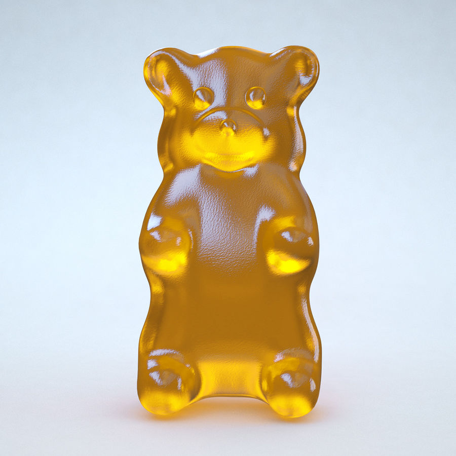 Red Gummy Bear royalty-free 3d model - Preview no. 8