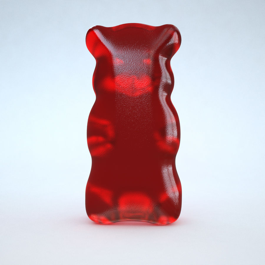 Red Gummy Bear royalty-free 3d model - Preview no. 4