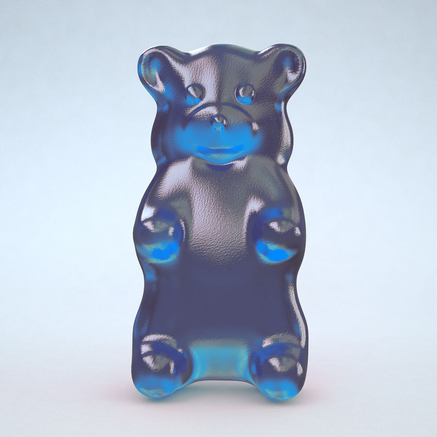 Red Gummy Bear royalty-free 3d model - Preview no. 7