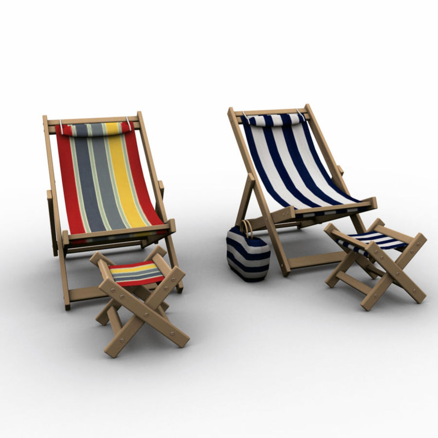 Beach Chair royalty-free 3d model - Preview no. 3