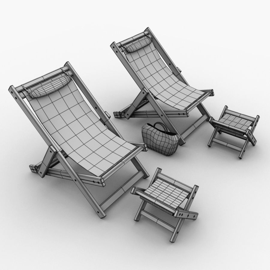 Beach Chair royalty-free 3d model - Preview no. 12