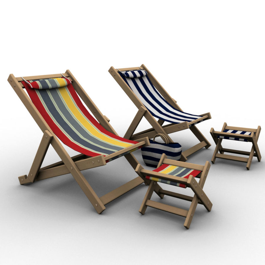 Beach Chair royalty-free 3d model - Preview no. 4