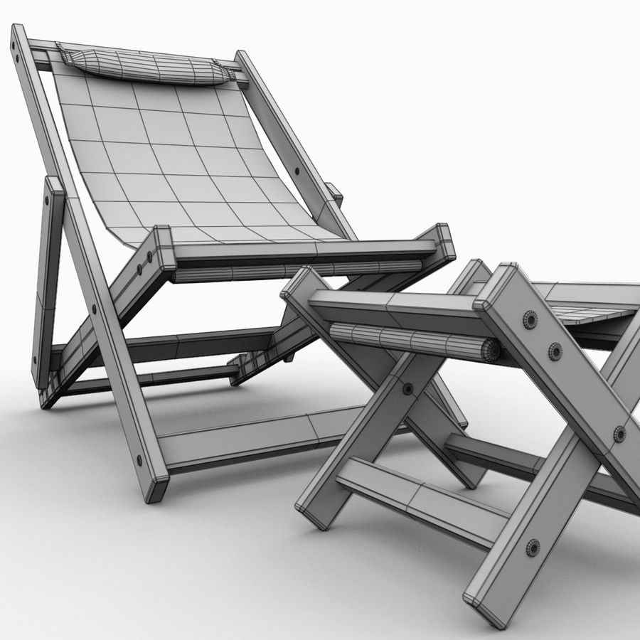 Beach Chair royalty-free 3d model - Preview no. 13