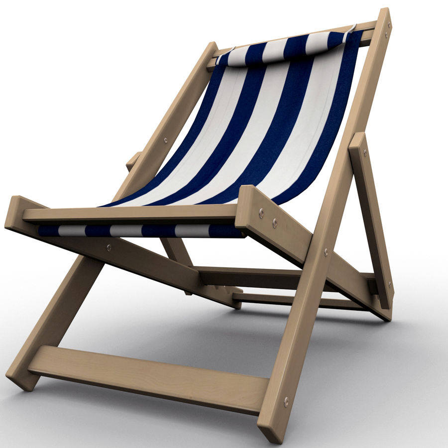 Beach Chair royalty-free 3d model - Preview no. 9