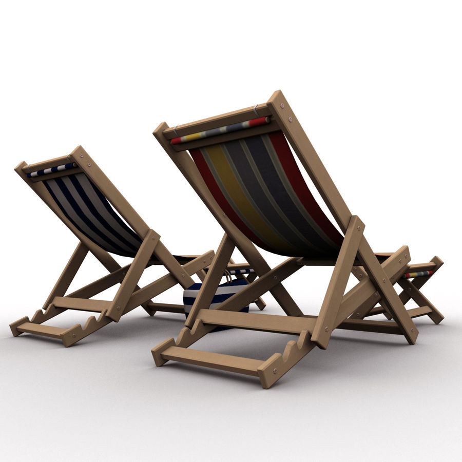 Beach Chair royalty-free 3d model - Preview no. 6