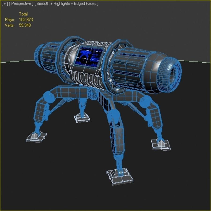 Scifi Bomb royalty-free 3d model - Preview no. 4