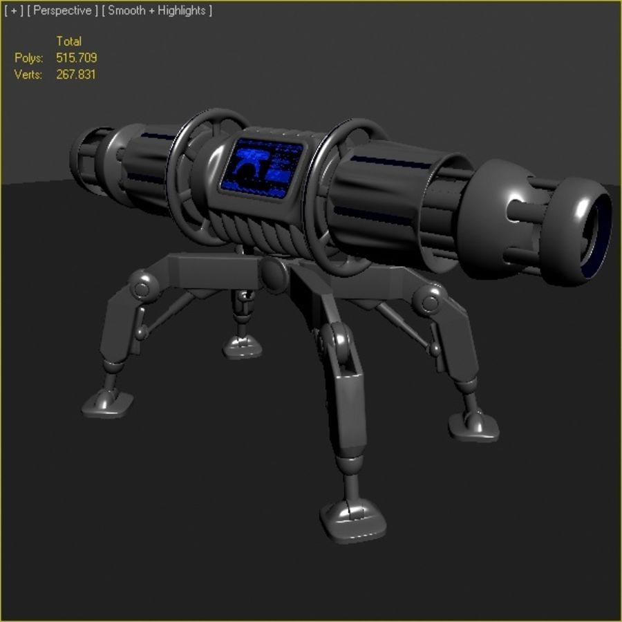Scifi Bomb royalty-free 3d model - Preview no. 7