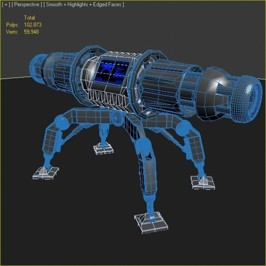 Scifi Bomb royalty-free 3d model - Preview no. 5