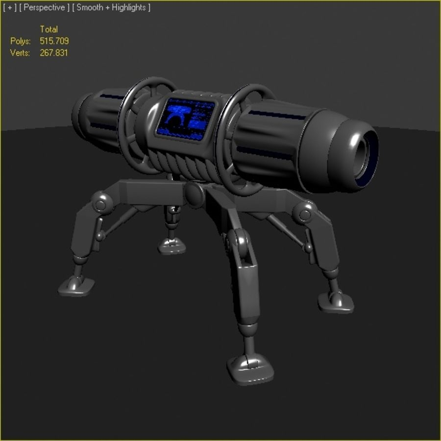 Scifi Bomb royalty-free 3d model - Preview no. 6