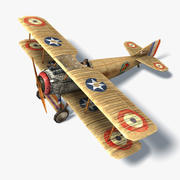 Spad XIII Low Poly 3d model
