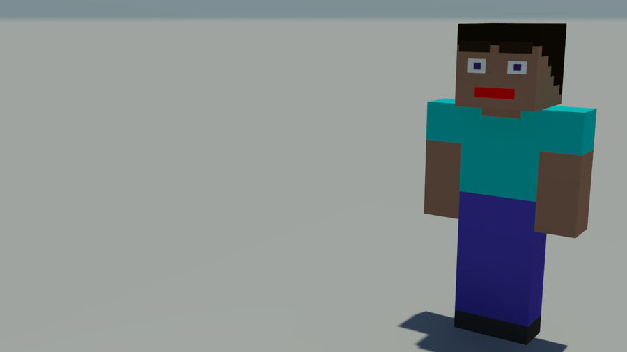 Support de personnage Minecraft royalty-free 3d model - Preview no. 2