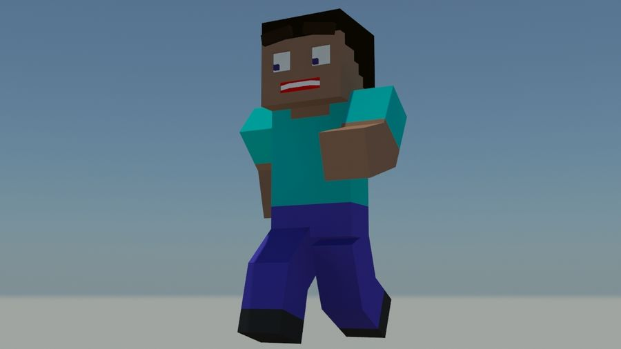 Support de personnage Minecraft royalty-free 3d model - Preview no. 4