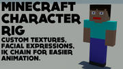 Support de personnage Minecraft 3d model