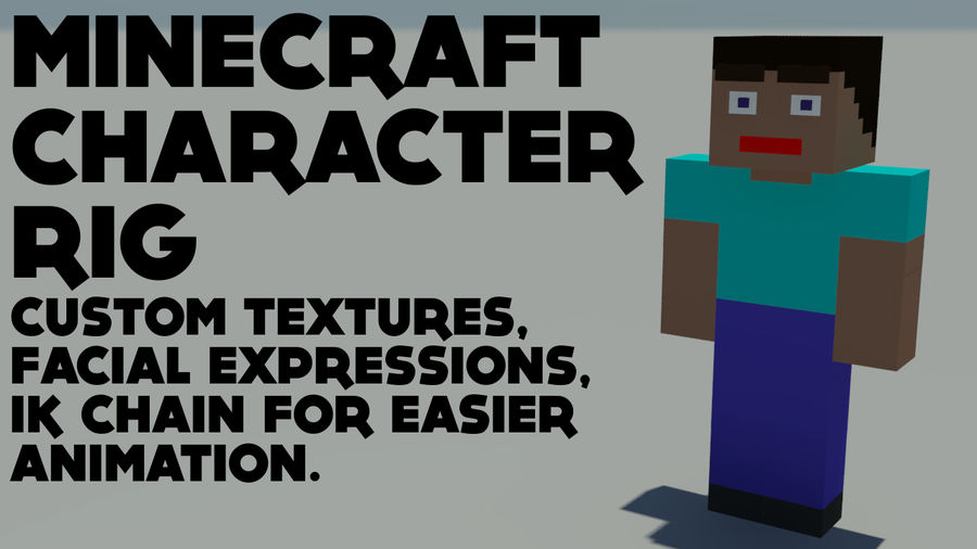 Support de personnage Minecraft royalty-free 3d model - Preview no. 1