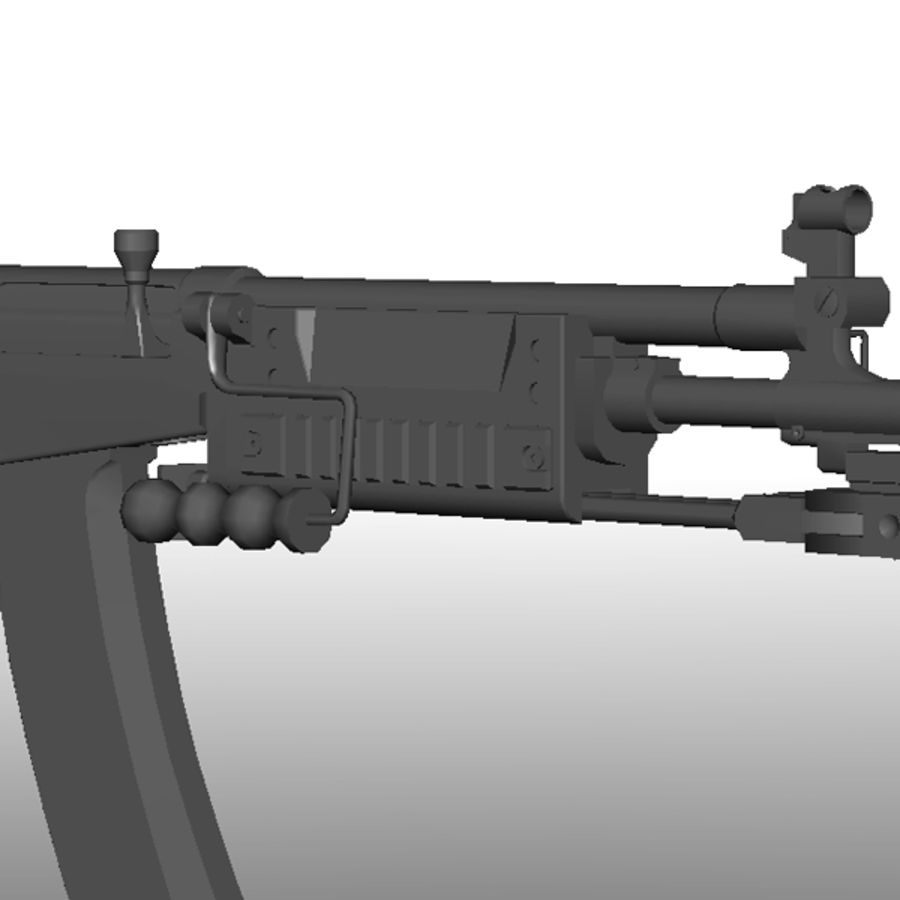 Galil Assault Rifle royalty-free 3d model - Preview no. 6