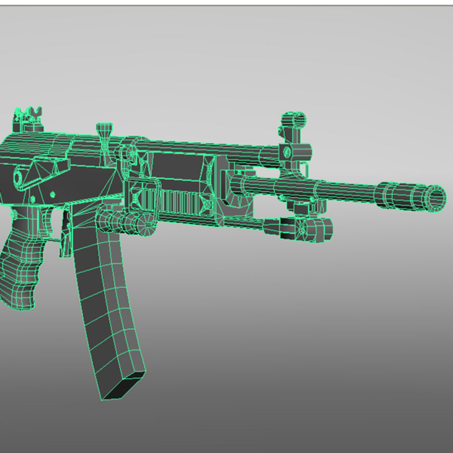 Galil Assault Rifle royalty-free 3d model - Preview no. 9