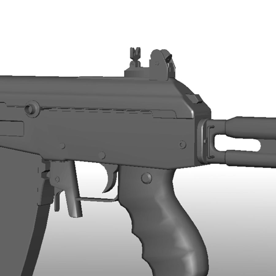 Galil Assault Rifle royalty-free 3d model - Preview no. 5