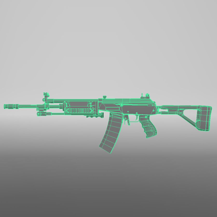 Galil Assault Rifle royalty-free 3d model - Preview no. 7
