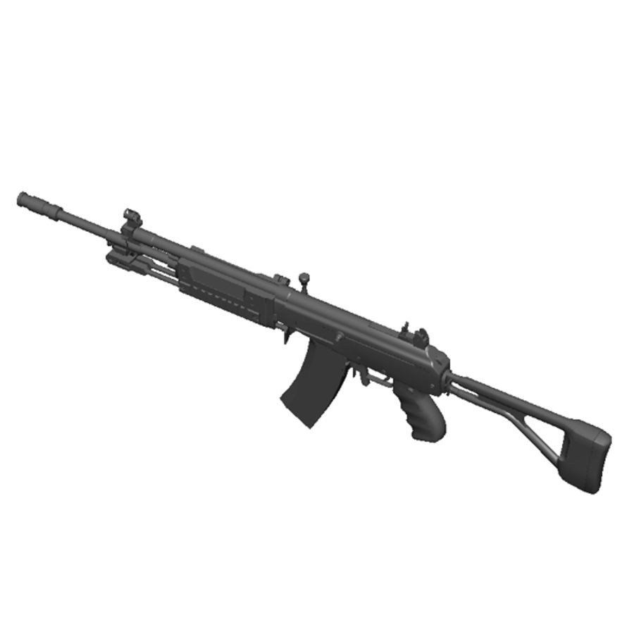 Galil Assault Rifle royalty-free 3d model - Preview no. 4