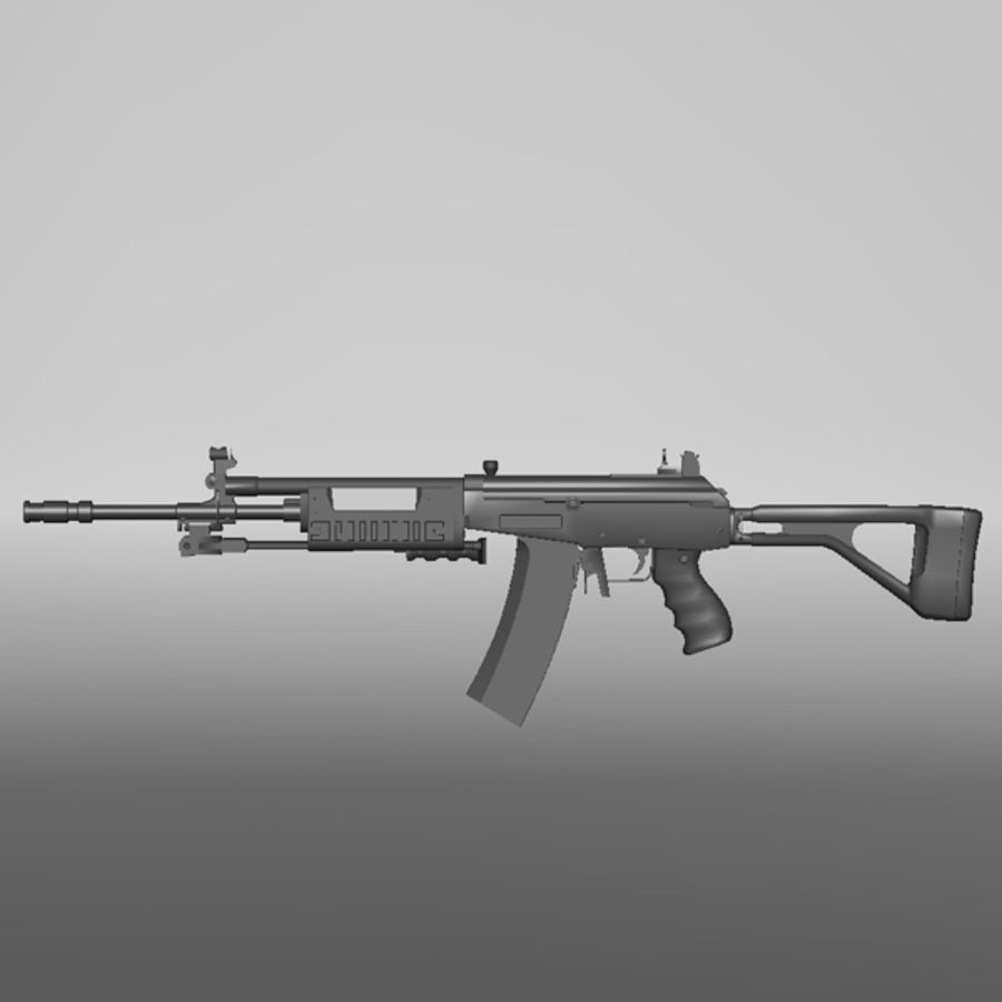 Galil Assault Rifle royalty-free 3d model - Preview no. 1