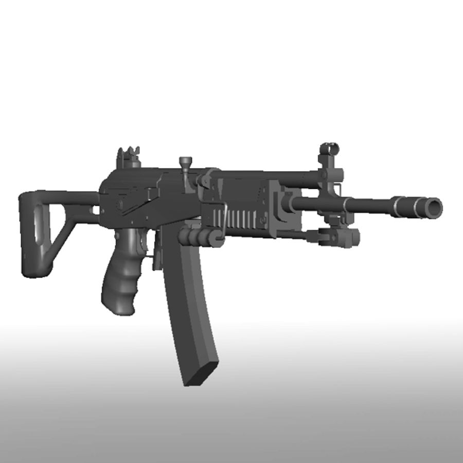 Galil Assault Rifle royalty-free 3d model - Preview no. 3