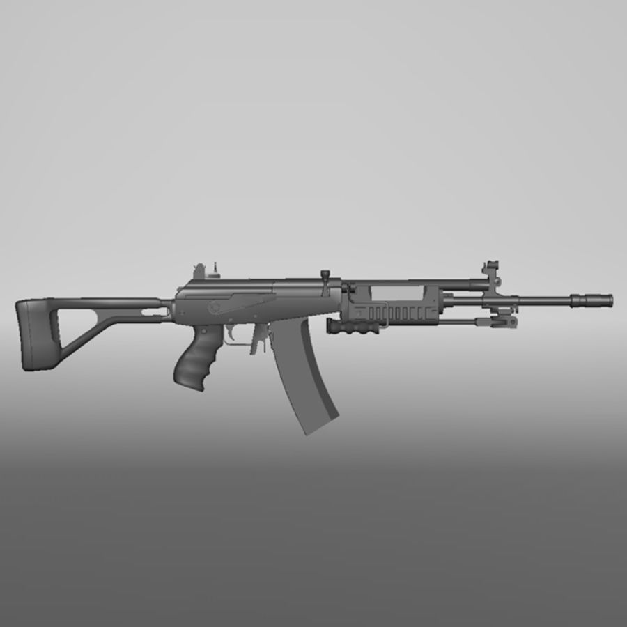 Galil Assault Rifle royalty-free 3d model - Preview no. 2