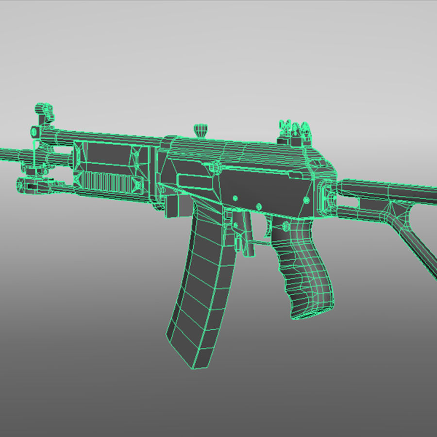 Galil Assault Rifle royalty-free 3d model - Preview no. 10