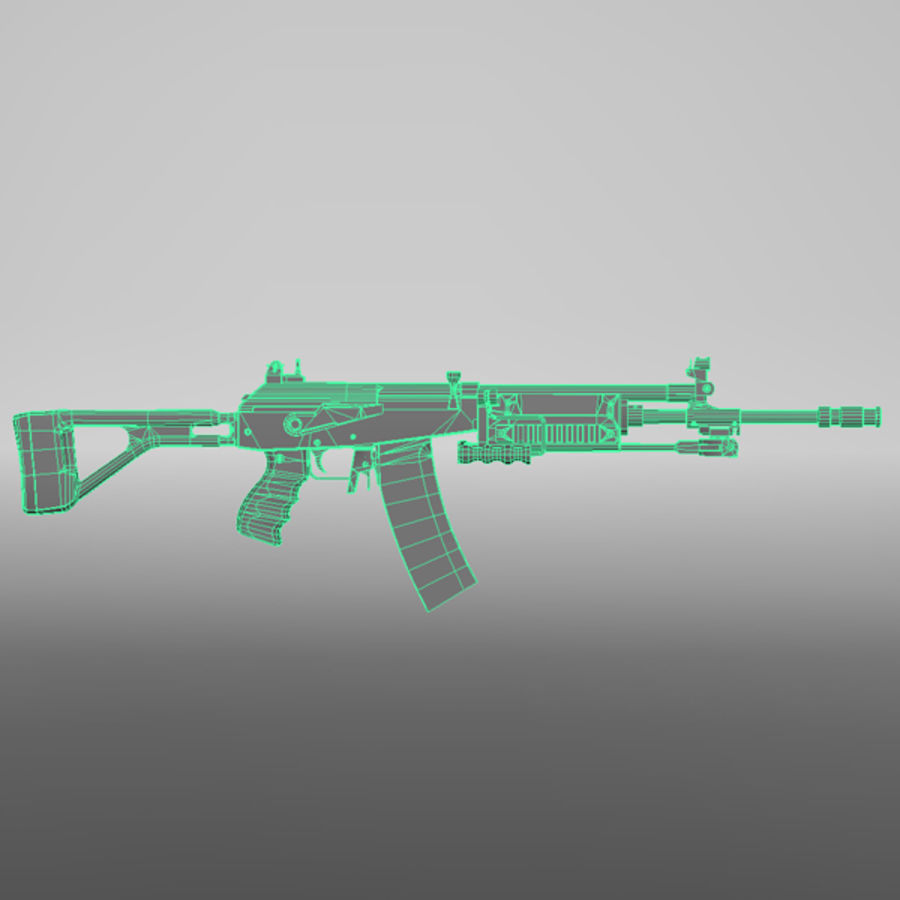 Galil Assault Rifle royalty-free 3d model - Preview no. 8