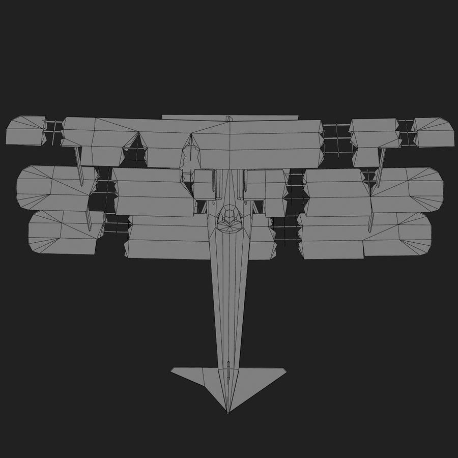Sopwith Triplane Low Poly royalty-free 3d model - Preview no. 23