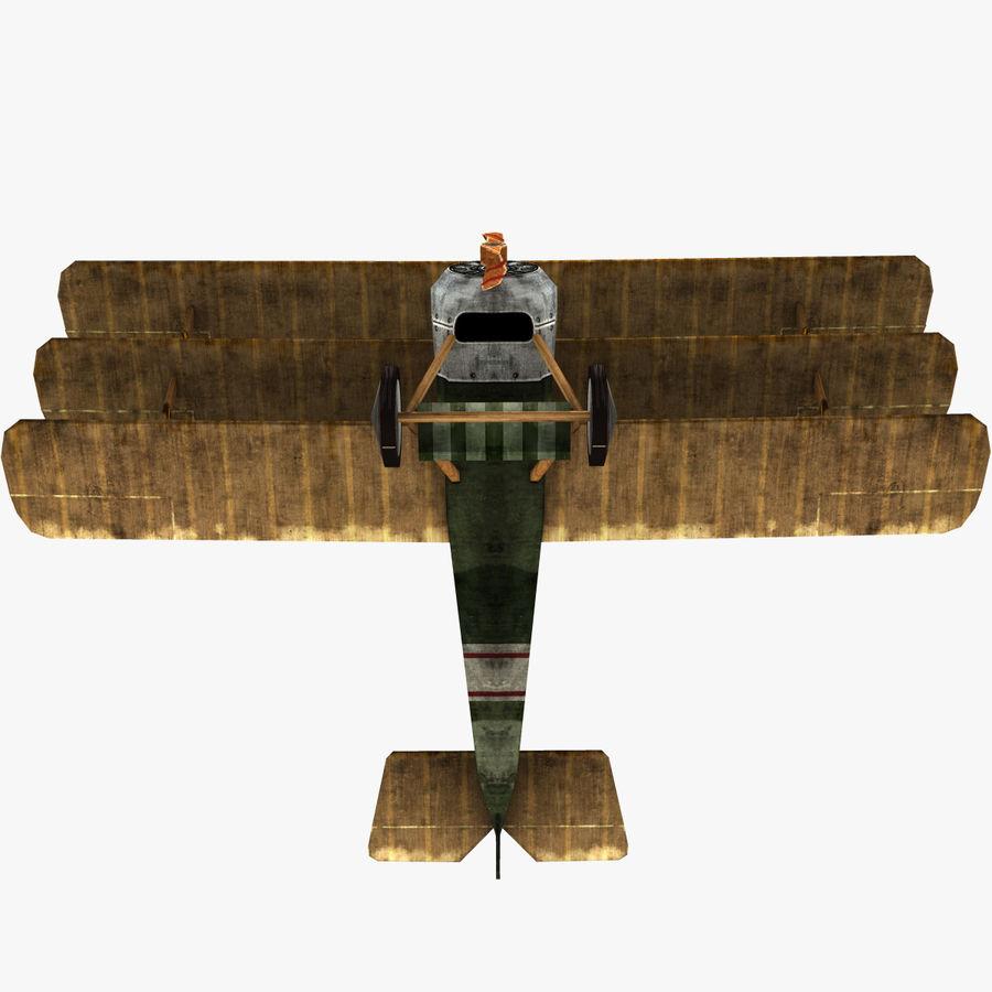 Sopwith Triplane Low Poly royalty-free 3d model - Preview no. 14