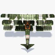 Sopwith Triplane Low Poly 3d model