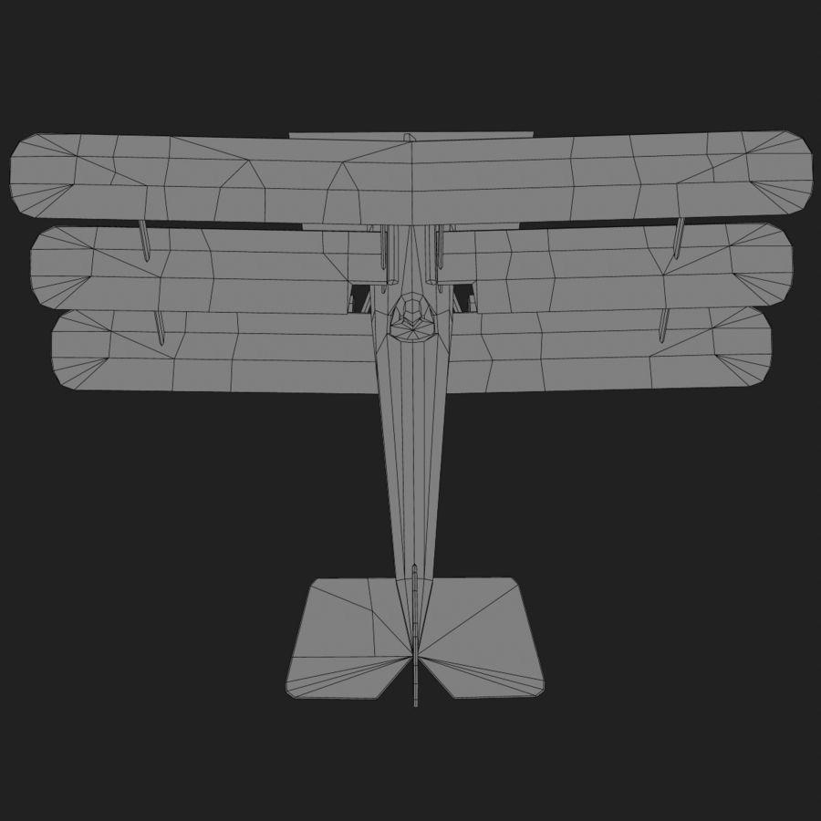 Sopwith Triplane Low Poly royalty-free 3d model - Preview no. 20