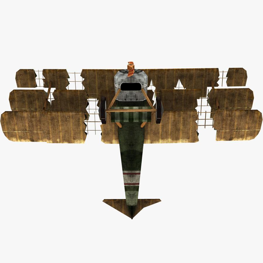 Sopwith Triplane Low Poly royalty-free 3d model - Preview no. 15