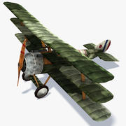 Sopwith Triplane Low Poly 3d model