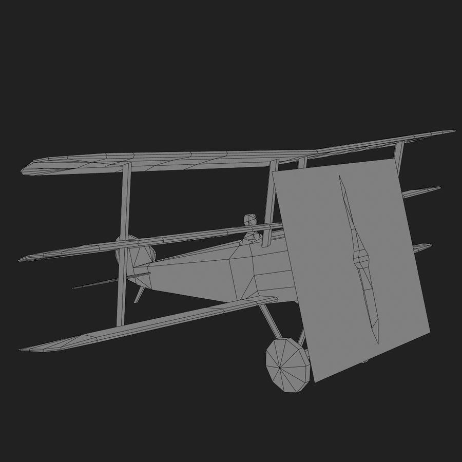 Sopwith Triplane Low Poly royalty-free 3d model - Preview no. 21