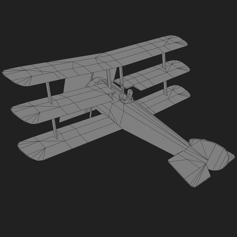 Sopwith Triplane Low Poly royalty-free 3d model - Preview no. 19