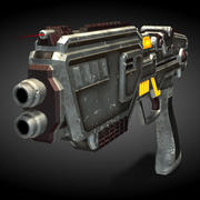 Pistolet (Rigged) 3d model