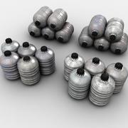 金属桶集合 3d model