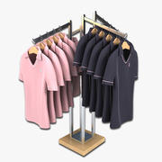 Womens Golf Polo Shirt Display 3d model