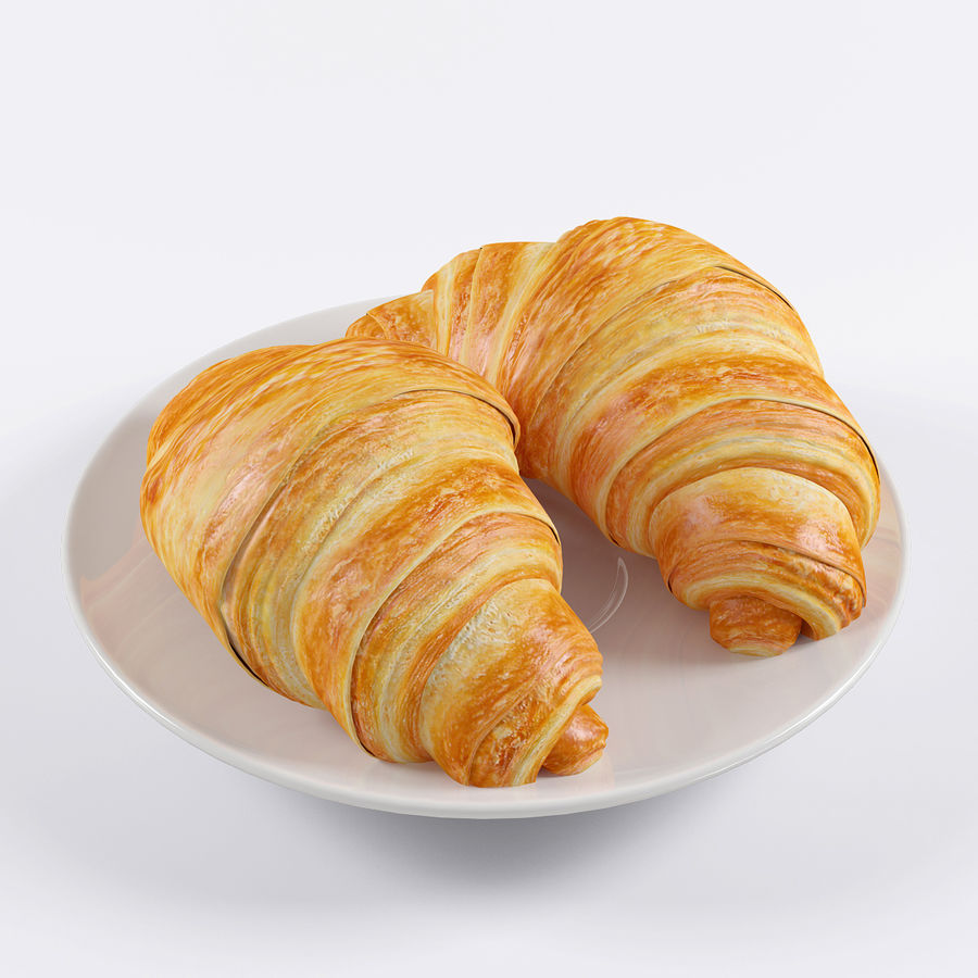Croissant 4 royalty-free modelo 3d - Preview no. 3