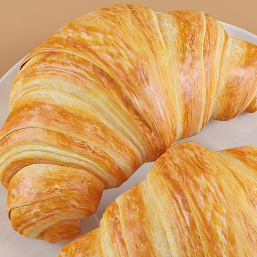 Croissant 4 royalty-free 3d model - Preview no. 8