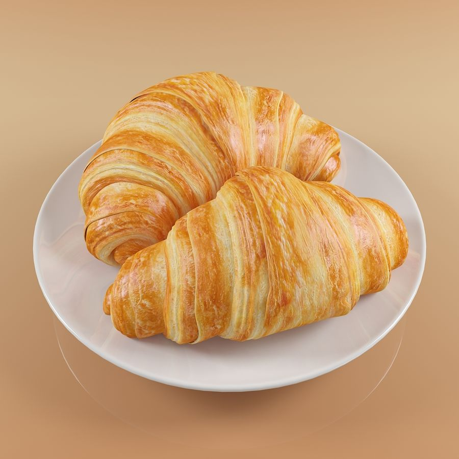 Croissant 4 royalty-free modelo 3d - Preview no. 2