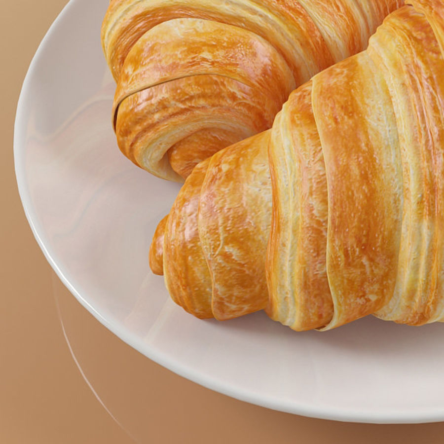 Croissant 4 royalty-free modelo 3d - Preview no. 7