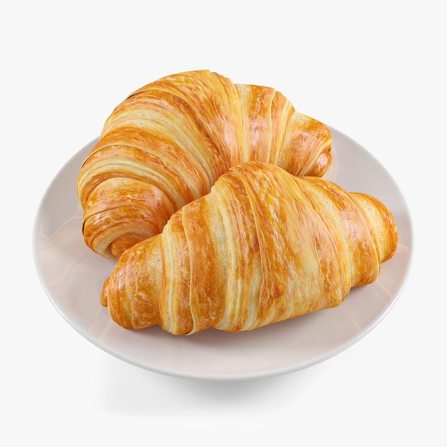 Croissant 4 royalty-free 3d model - Preview no. 1